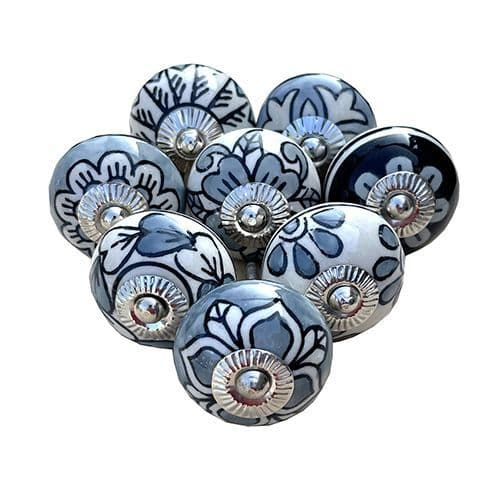 8 Perfect Grey Patterned Knobs