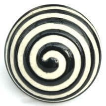 black etched swirl knob