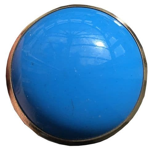 Blue Resin Round with Gold Trim