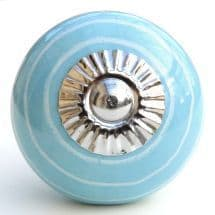 blue/white stripes knob