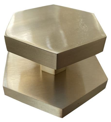 Brass Hexagon External Door Knob Gold Finish