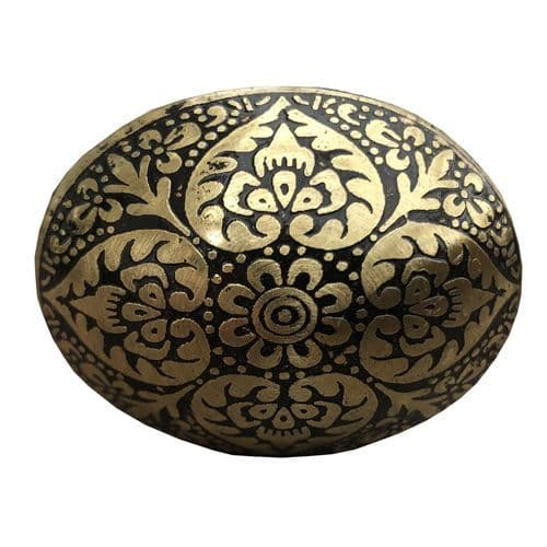 Brass Oval Marrakesh Black
