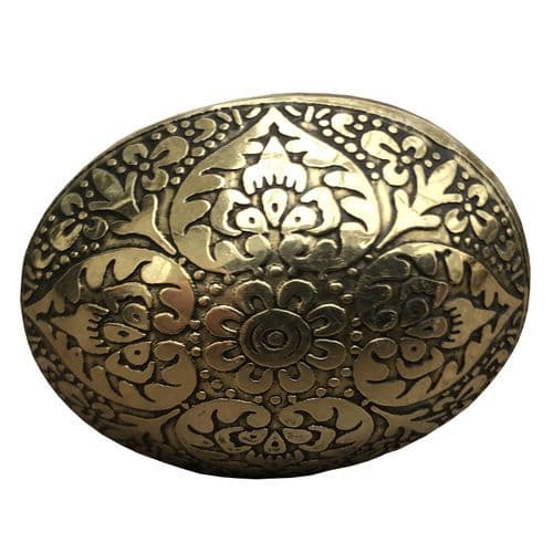 Brass Oval Marrakesh Bronze