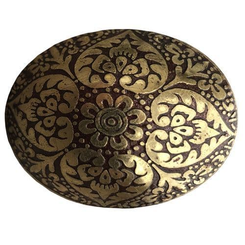 Brass  Oval Marrakesh Brown