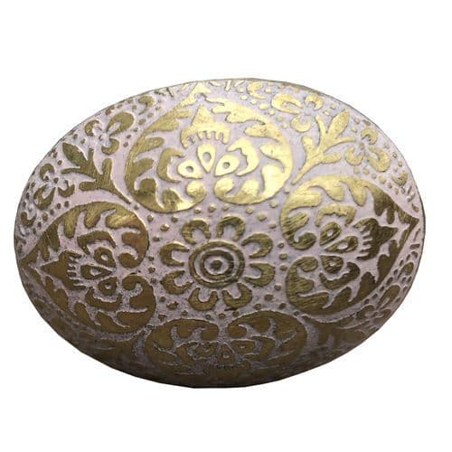 Brass  Oval Marrakesh Pink