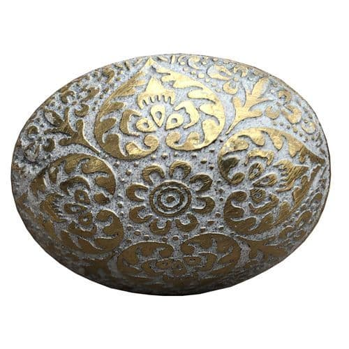 Brass  Oval Marrakesh White
