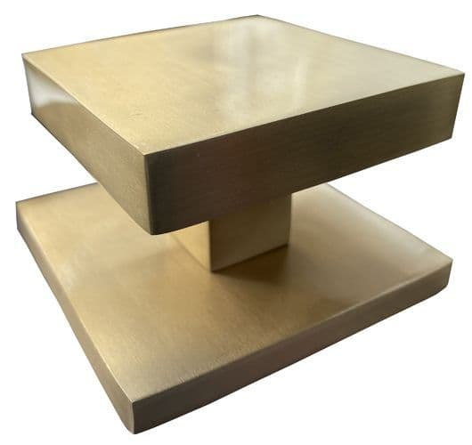 Brass Square External Door Knob Gold Finish