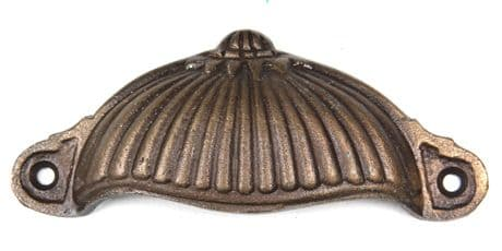 Bronze Fluted Cup Handle