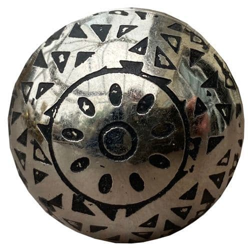 Chrome black patterns knob