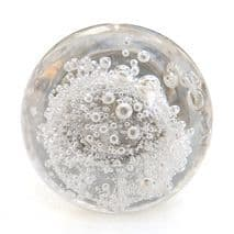 Clear Bubble Glass Knob