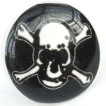 Flat Skull and Cross Bones Knob