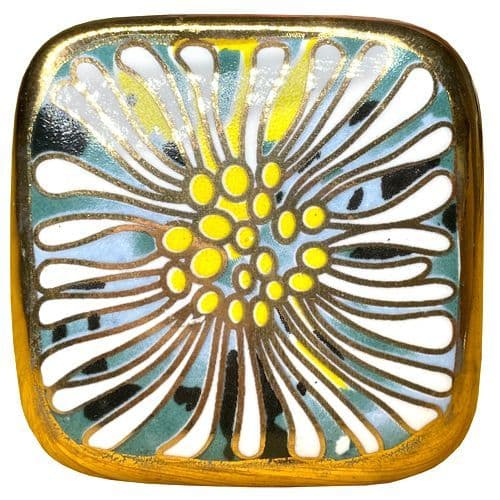 Gold Square Knob FLOWER