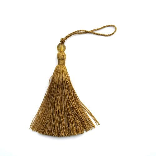 Gold tassel with bead