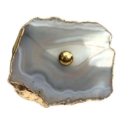 Grey/Cream/Brown Agate Knob
