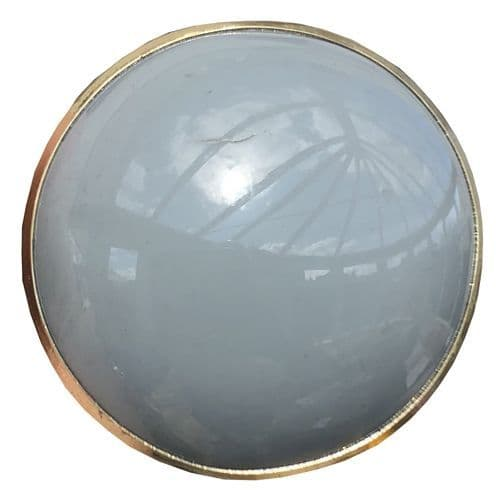 Grey Resin Round with Gold Trim