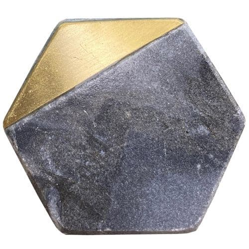 Grey Stone Hexagon GOLD