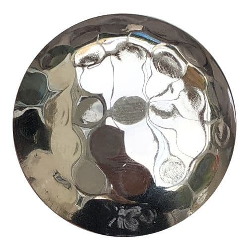 Hammered Chrome Knob