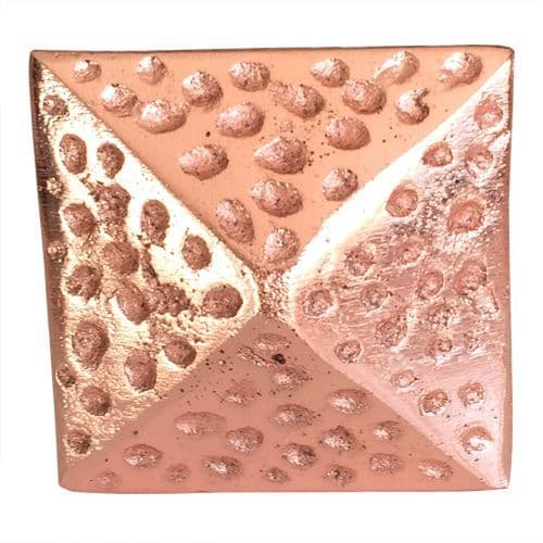 Hammered Rose Gold Square