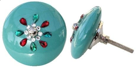 Jewelled Lrg Turquoise Wheel