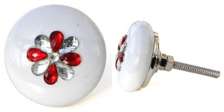 Jewelled Sml Wheel (red jewells)