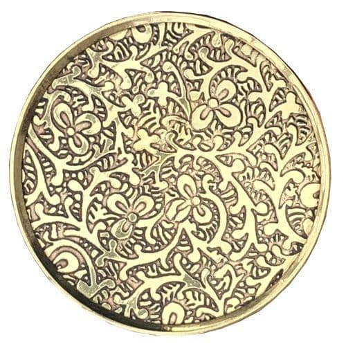 Large Brass Round with Intricate Detail