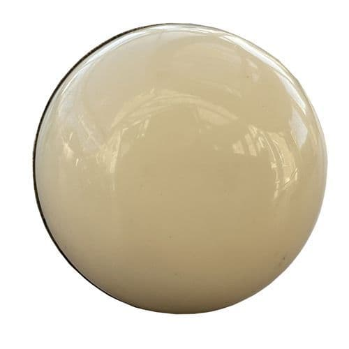 Large Domed Cream Knob - Gold