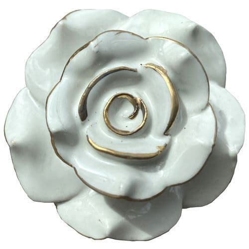 Large Flower Cream/Gold
