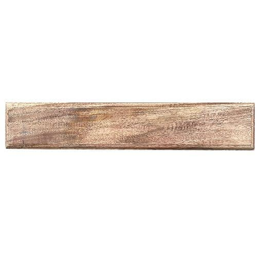 Modern Rectangular 5 Hook Board. Brown