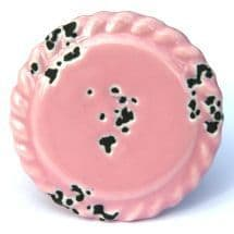 Pink Bevelled Distressed Knob