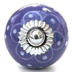 Purple with White Patterns