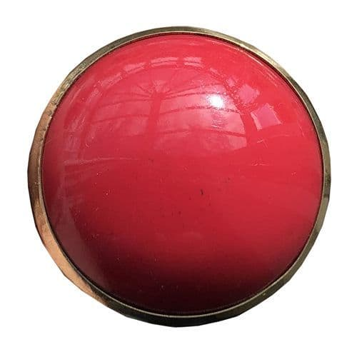 Red Resin Round with Gold Trim