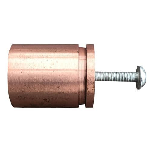 Rose Gold 25mm Dint Stub Pull
