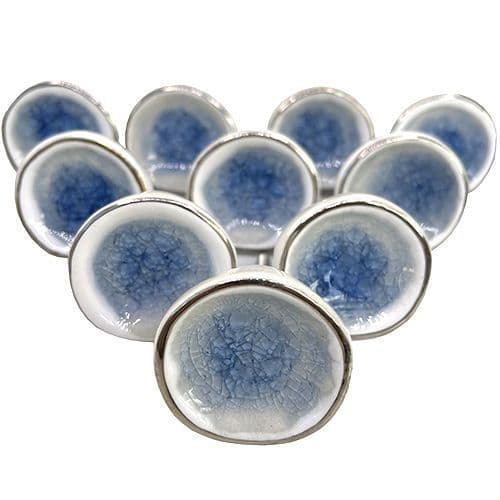 Set of 10 (Blueish) Grey Silver Pods