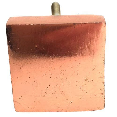 Square Flat Rose Gold Knob