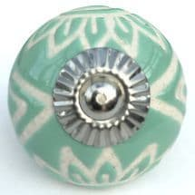 turquoise etched aztec knob