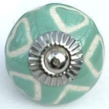 turquoise etched heart knob
