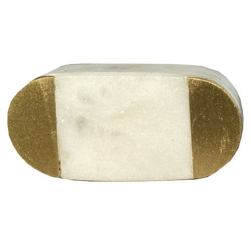 White Stone Bar - Gold Ends