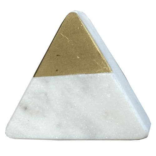 White Stone Triangle- Gold Front