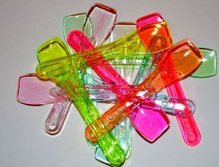 10KG Neon Colour Plastic Ice Cream Spoons 7500 Approx