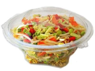 Clear Round Salad Bowl