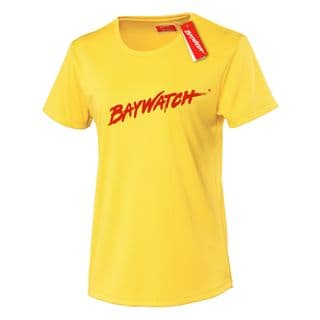 LADIES LICENSED BAYWATCH ® YELLOW COOLTEX FITTED T-SHIRT