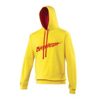 LICENSED BAYWATCH ® YELLOW CONTRAST HOODIE
