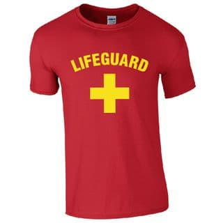 LIFEGUARD + RED T-SHIRT