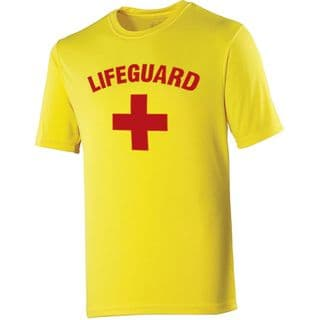 Licensed Baywatch Yellow Cooltex T-Shirt | Lifeguard Gear