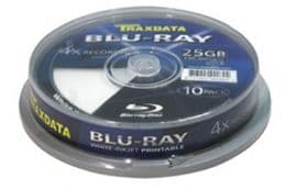 Traxdata Blu Ray Full Face White Inkjet Printable BDR 4x - 10pcs