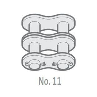 """10B-2-NO11 Chain Connecting Link, 5/8"""" Pitch BS, Duplex"""