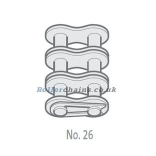 """GY06B-3-NO26 Chain Connecting Link, 3/8"""" Pitch BS, Triplex"""