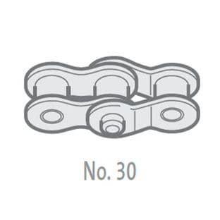 """GY08B-1-NO30 Double Crank Link, 1/2"""" Pitch BS, Simplex"""