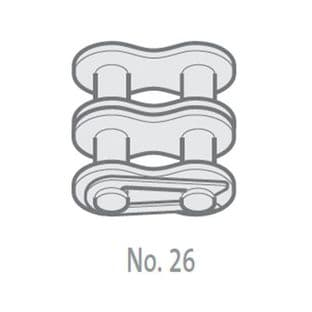 """GY08B-2-NO26 Chain Connecting Link, 1/2"""" Pitch BS, Duplex"""