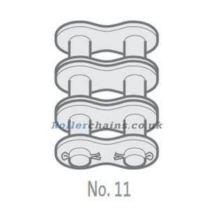 """GY20B-3-NO11 Chain Connecting Link, 1-1/4"""" Pitch BS, Triplex"""